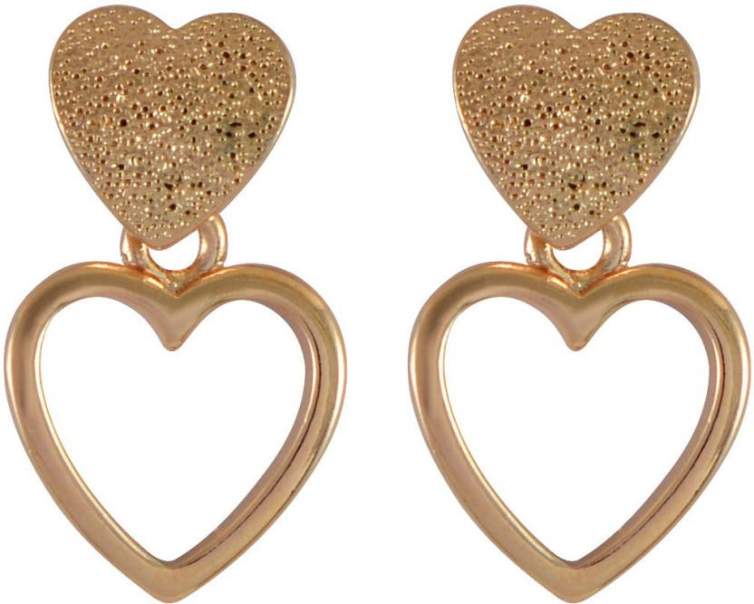 Sarah Sweet Love Double Heart Stud Earring by SARAH Alloy Stud Earring