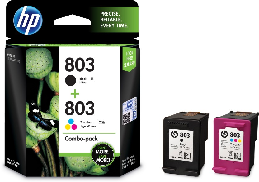 HP 803 combo pack Multi Color Ink