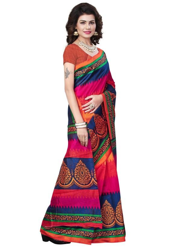 Gugaliya Paisley Bollywood Art Silk Saree