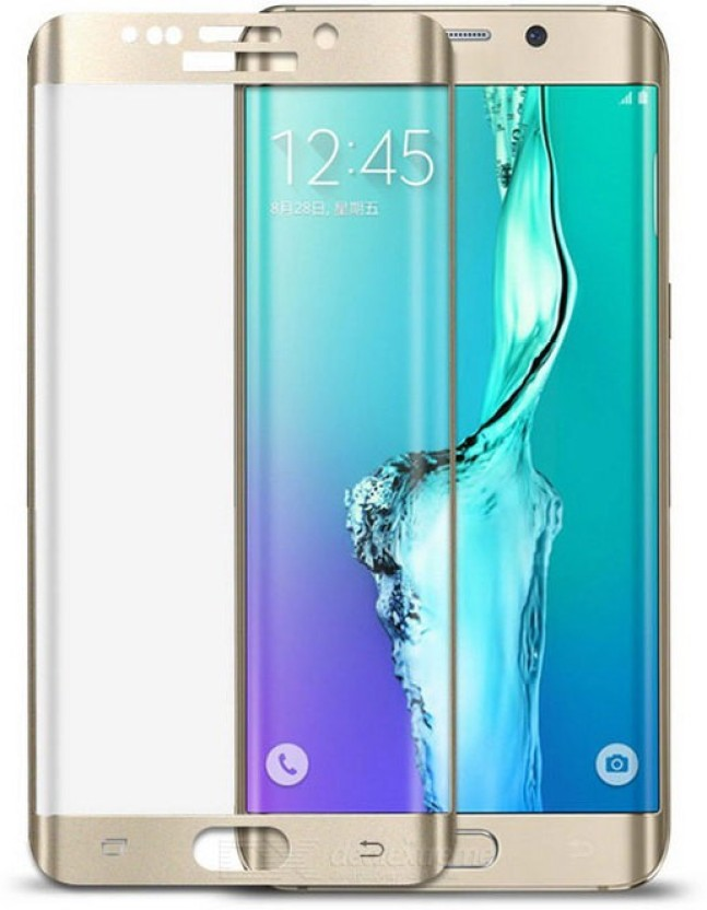 RidivishN Tempered Glass Guard for Samsung Galaxy S8 Plus (6.2 Inch Display) Golden
