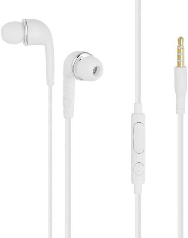 Digitalmart Top Selling Stereo Handsfree Earphones With Microphone For Samsung Galaxy & All 3.5mm Jack device. Wired Headset With Mic (White) Headphone