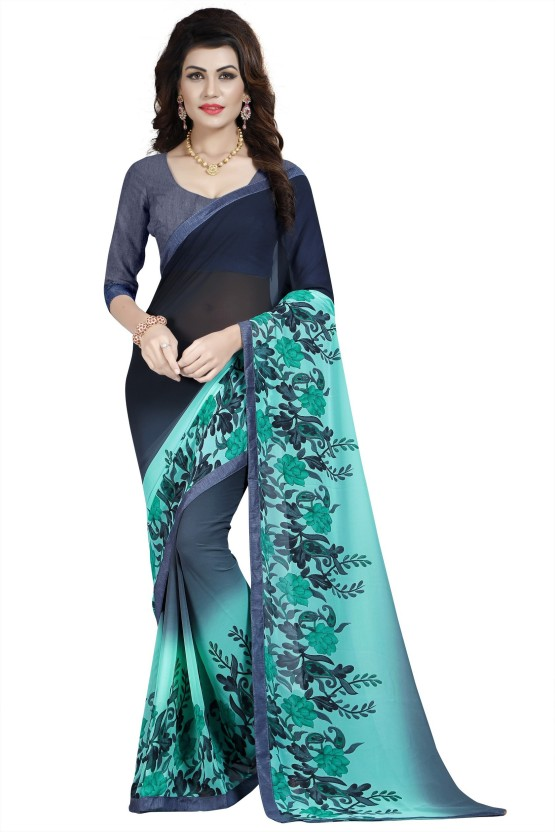 Dream Beauty Fashion Printed Daily Wear Synthetic Georgette Saree