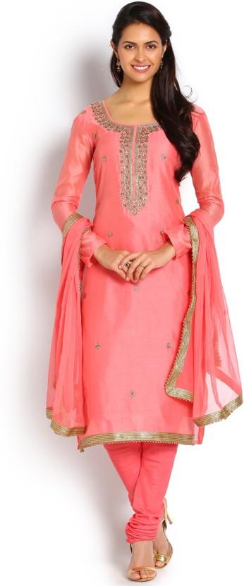 Soch Cotton Embroidered Salwar Suit Dupatta Material