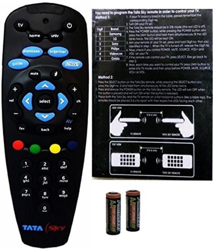 Tata Sky Genuine 100% Original Universal Remote (Read description before purchase) Remote Controller