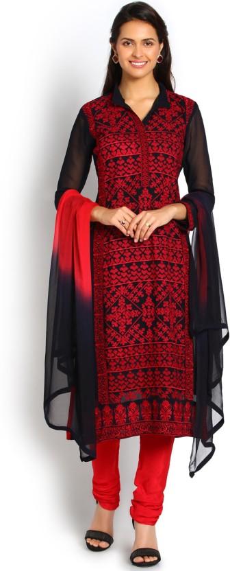 Soch Georgette Embroidered Salwar Suit Dupatta Material