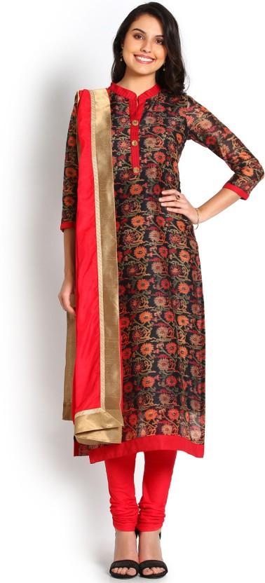Soch Chanderi Printed Salwar Suit Dupatta Material
