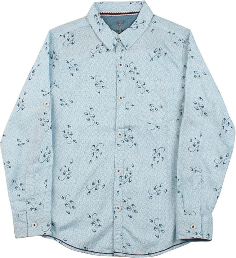 Allen Solly Junior Boys Printed Casual Shirt