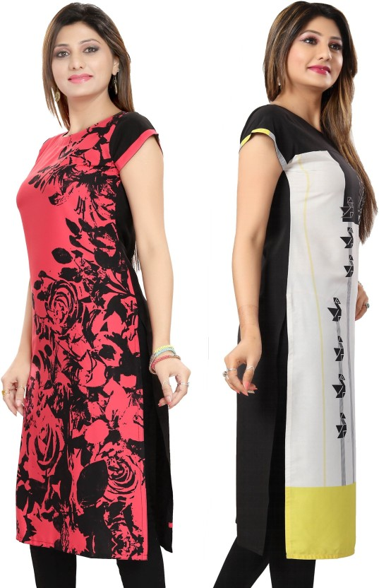 Vbuyz Festive & Party Embroidered, Printed Women Kurti