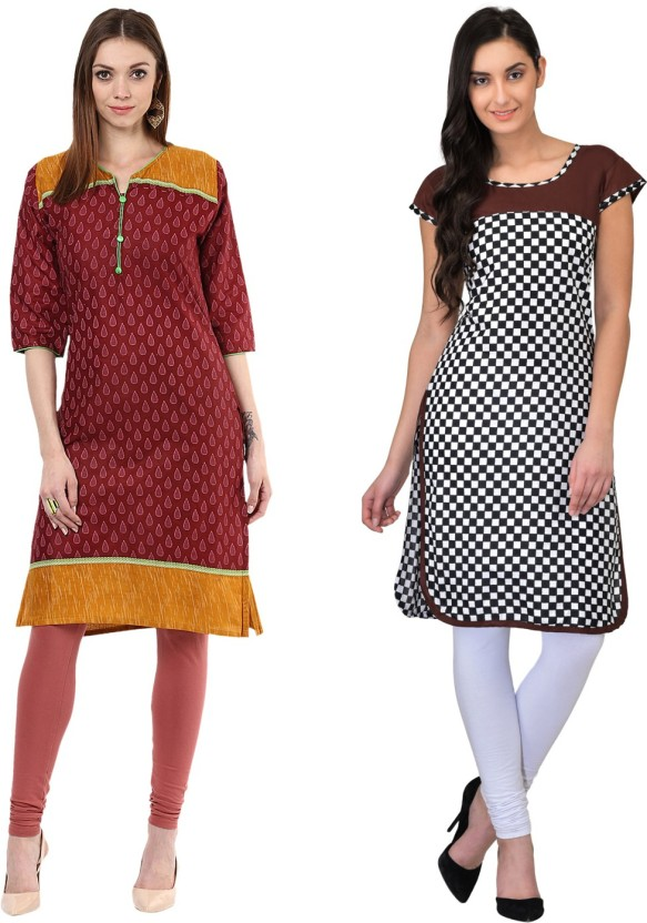 Drapes Casual Printed, Checkered Women