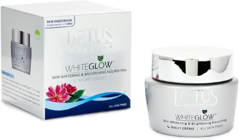 Lotus Herbals White Glow Skin Whitening and Brightening Nourishing Night Creme (Pack of 2)