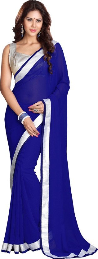 Sourbh Sarees Solid Fashion Georgette Saree