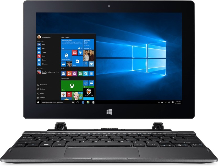Acer Switch One Atom Quad Core - (2 GB/500 GB HDD/32 GB EMMC Storage/Windows 10 Home) SW1-011 2 in 1 Laptop
