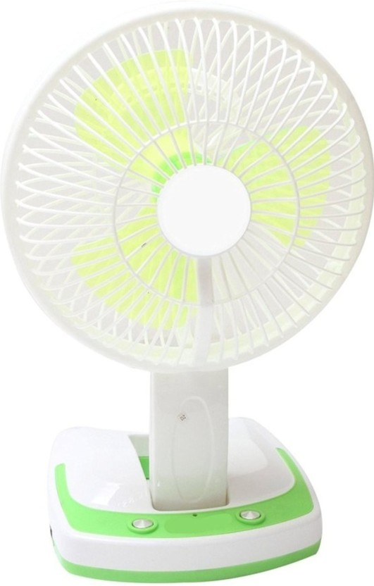 Aqua Fresh JY SUPER 5590 Powerful Rechargeable Fan with 21SMD LED lights 3 Blade Table Fan