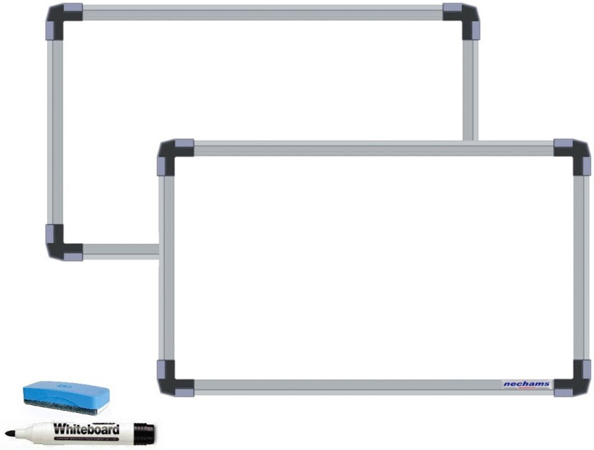 NECHAMS Non Magnetic 2ft x 1ft Whiteboards and Duster Combos