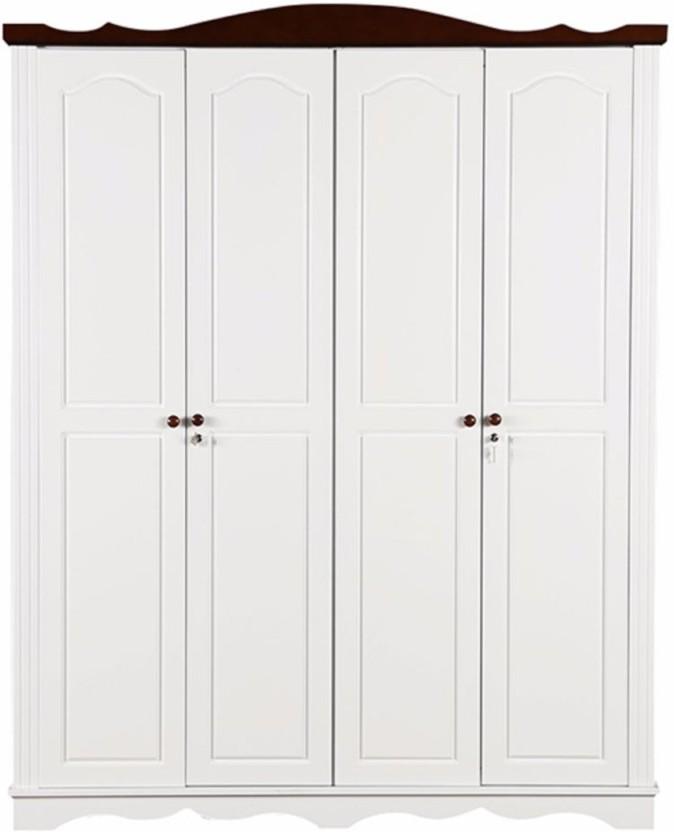 HomeTown Margery Engineered Wood 4 Door Wardrobe