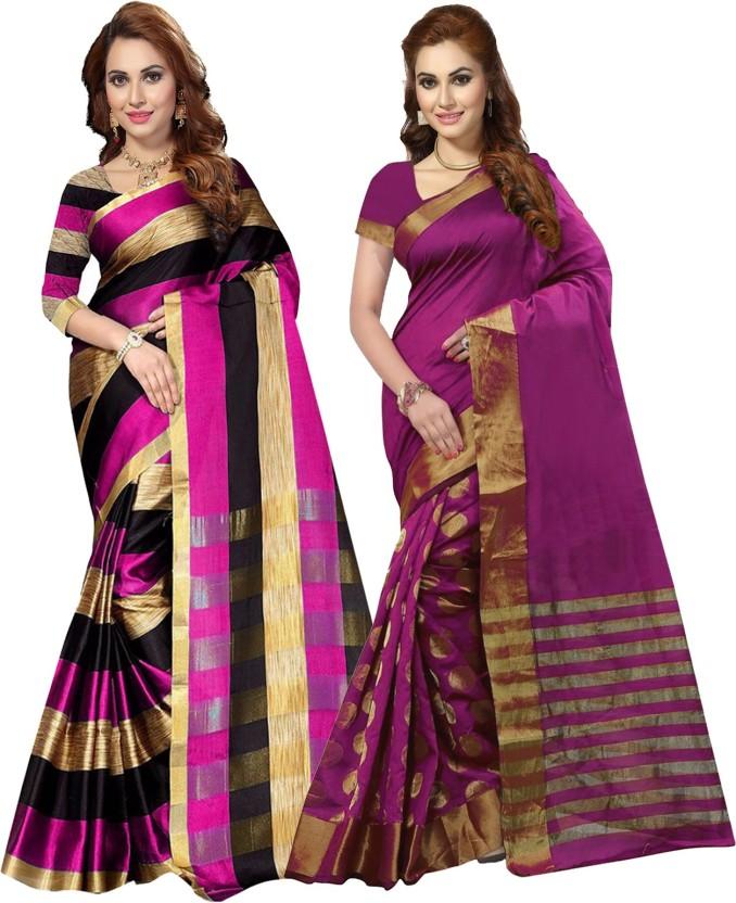 Ishin Woven Bollywood Cotton Saree