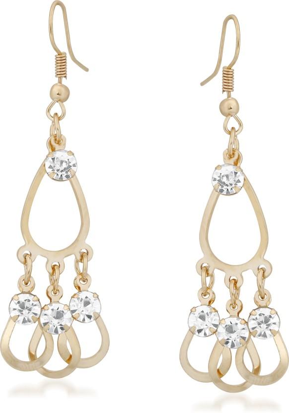 VK Jewels Rain Drop Pattern Alloy Dangle Earring