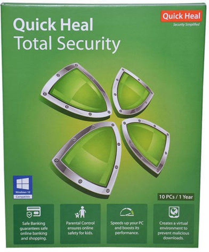 Quick heal TOTAL SECURITY 10 USER 1YEAR