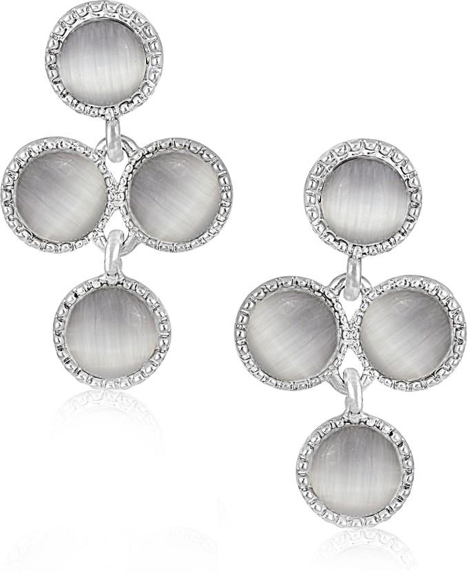 VK Jewels Diamond Studded Heart Cubic Zirconia Alloy Drop Earring