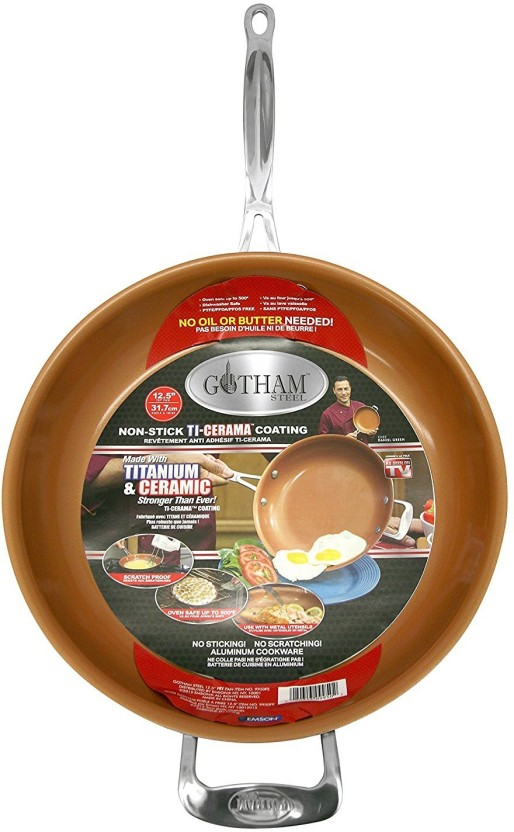 "GOTHAM STEEL GOTHAM STEEL 12.5"" PAN WITH LID ORIGINAL AS SEEN ON TV Pan 31 cm diameter"