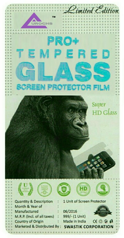 AUROCHS Tempered Glass Guard for MICROMAX CANVAS FIRE A093