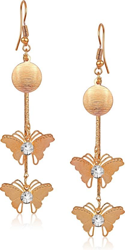 VK Jewels Chandelier Drop Heart Cubic Zirconia Alloy Dangle Earring