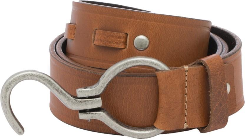 Walletsnbags Men Casual Tan Genuine Leather Belt