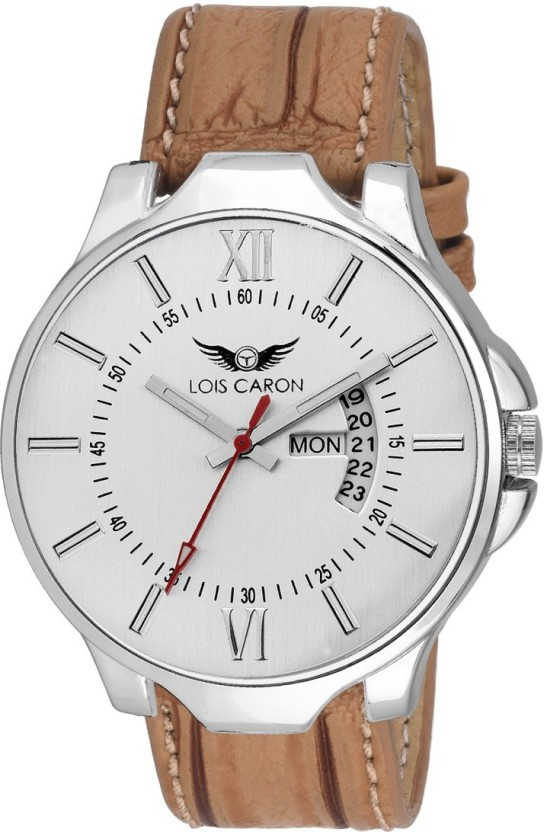 Lois Caron LCS-4116 WHITE DAY & DATE SERIES SE DAY AND DATE FUNCTIONING Watch  - For Men