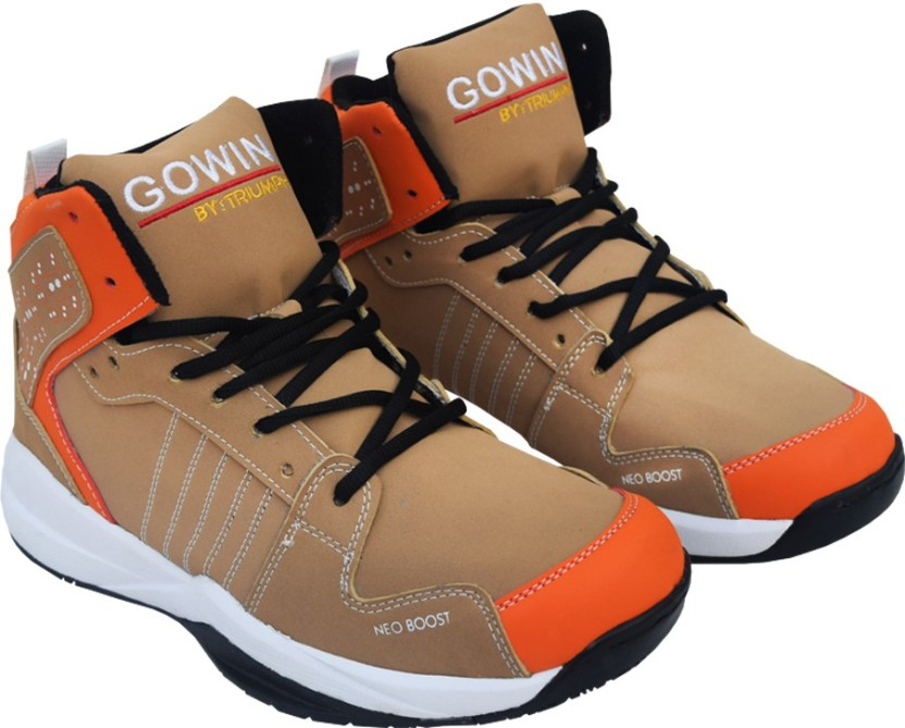 Gowin By Triumph Neo Boost_Brown/Orange Basketball Shoes For Men