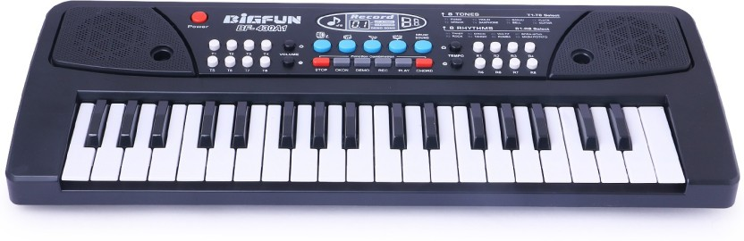 Shy Products Latest 37 Key Piano Keyboard Toy with DC Power Option, Recording and Mic for kids