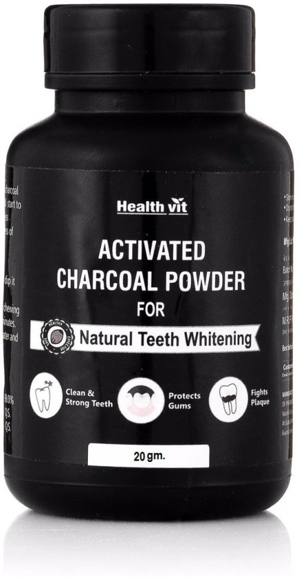 HealthVit Healthvit Activated Charcoal Powder for Natural Teeth Whitening