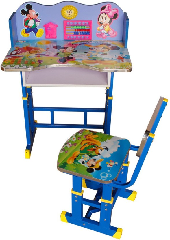 ABASR KIDS STUDY TABLE AND CHAIR Solid Wood Desk Chair