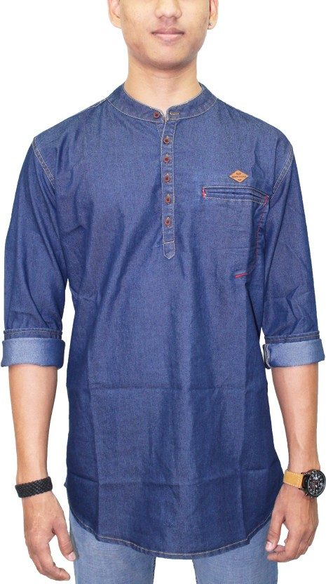 Kuons Avenue Solid Men Straight Kurta