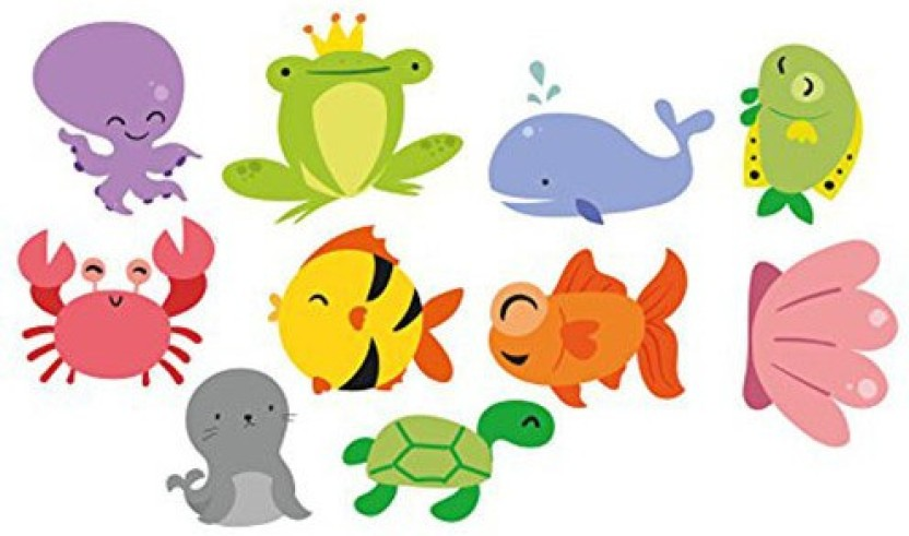 PARTY PROPZ UNDER THE SEA 10PCS CUTOUT/BIRTHDAY DECORATION/PARTY SUPPLIES Paper Cut-outs