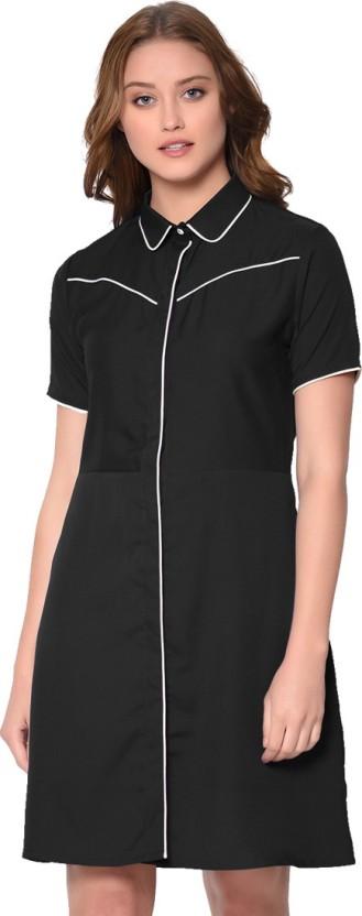 Raaika Women Shirt Black Dress
