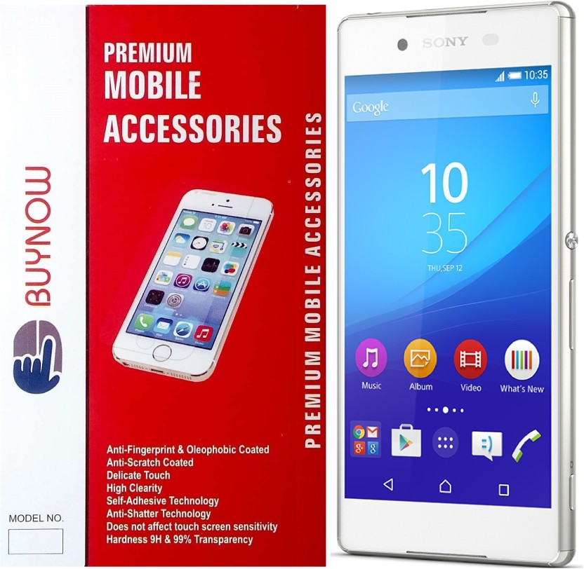Buynow Tempered Glass Guard for Sony Xperia Z3+ (5.2 inch)