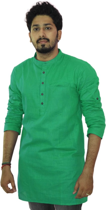 Riders Solid Men Straight Kurta