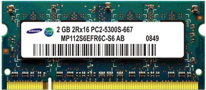 Samsung Genuine DDR2 2 GB (Single Channel) Laptop (Samsung DDR2 2GB LAPTOP RAM)