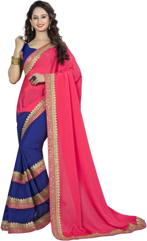 Sanku Fashion Embroidered, Self Design Daily Wear Chiffon Saree