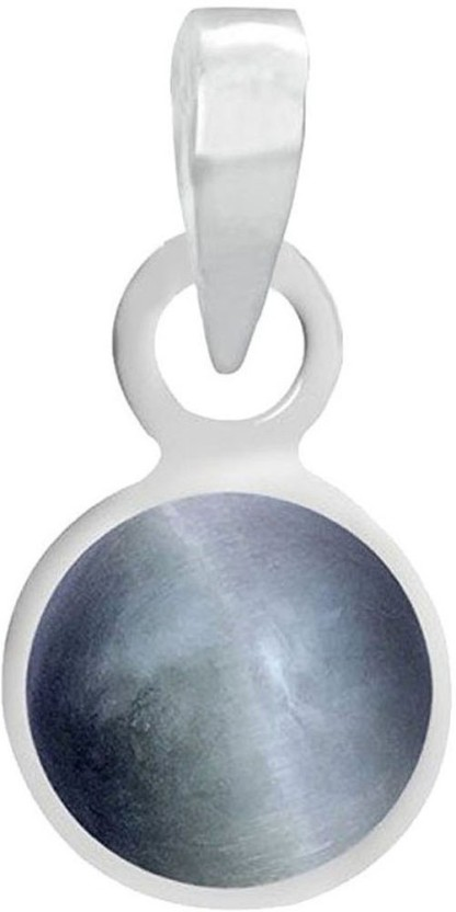Freedom Certified Natural Cats Eye (Lehsuniya) Pendant 5.25 Ratti or 4.78 Carat for Male & Female Sterling Silver Pendant