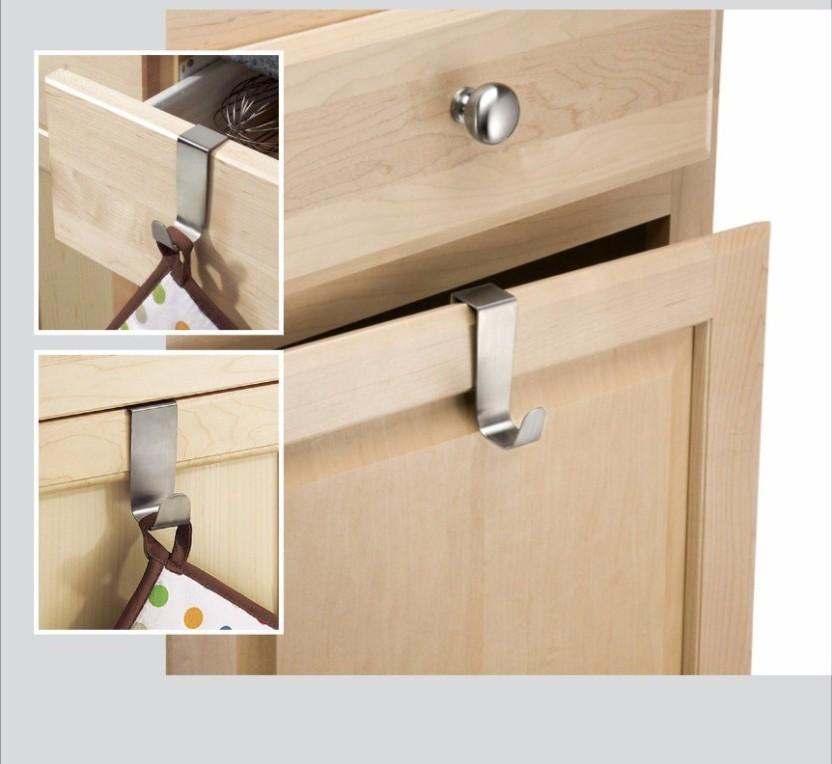 JVS SS kitchen cabinet Hooks Steel Wall Shelf