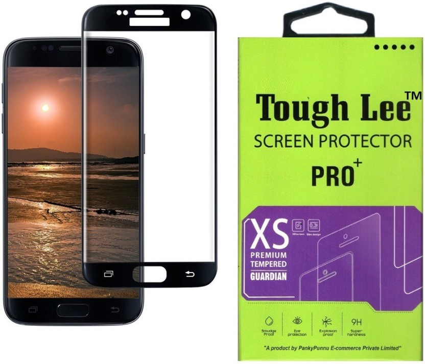 Tough Lee Tempered Glass Guard for Samsung Galaxy S6 (5.1 inch, Black) (Full Glass)