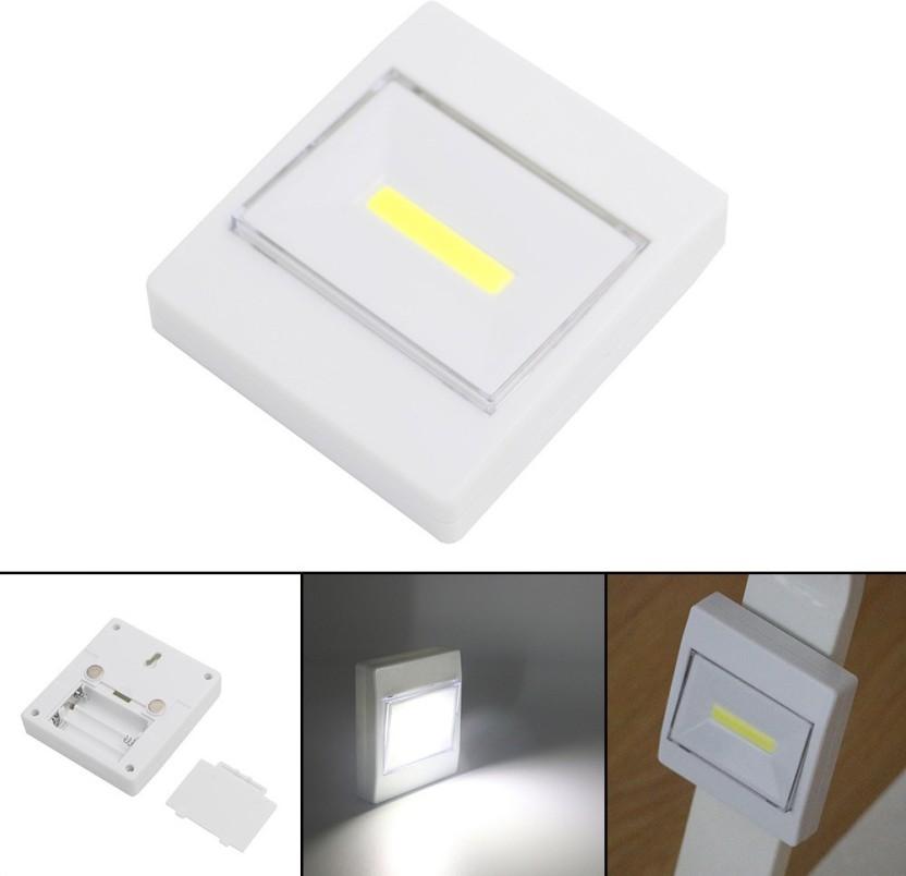 Wonder World ® LED Cordless Light Switch Night Lights Battery Operated Kitchen Cabinet Garage Closet Camp Emergency Lamp Wall-mounted
