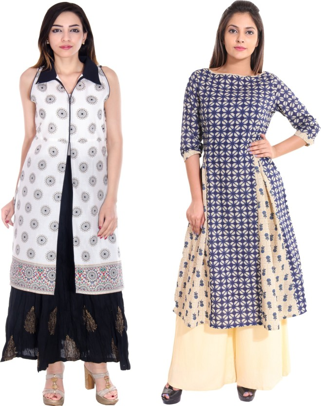 TEEJ Formal Printed Women Kurti