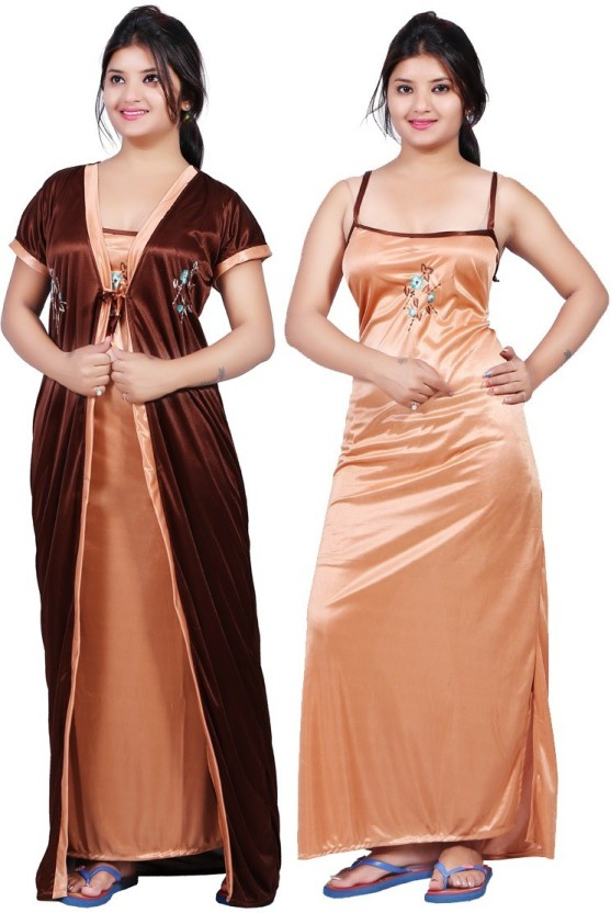 TRUNDZ Women Nighty with Robe