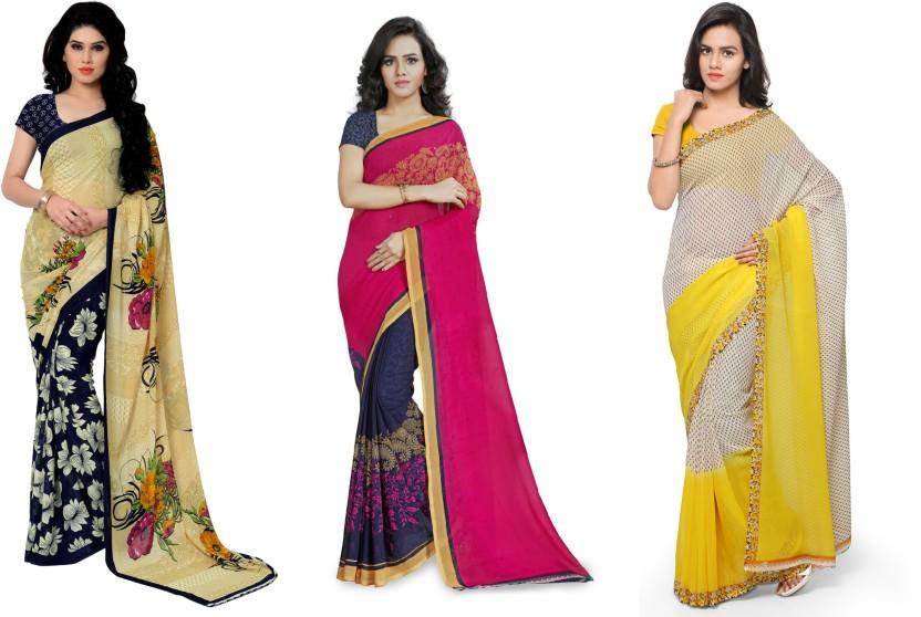 Kashvi Sarees Printed Fashion Faux Georgette Saree