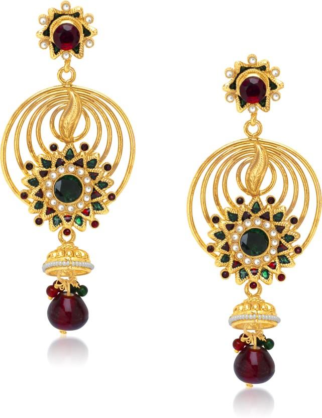 Divastri Circular Jhumki Drop Alloy Drop Earring