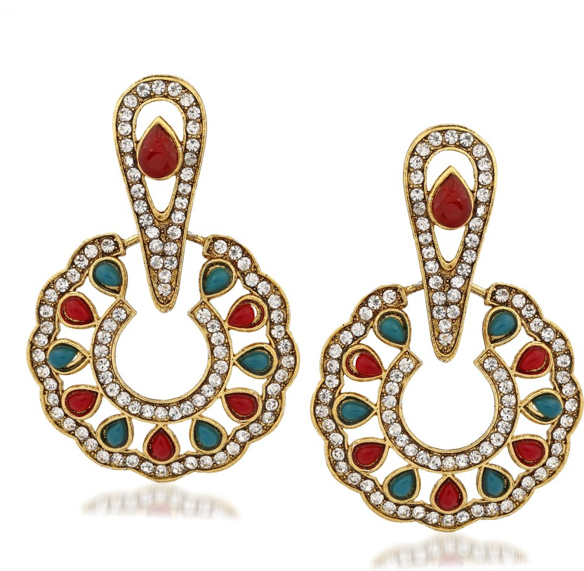 Silver Shoppee Silver Shoppee Flower Sterling Silver Earrings for Girls and Women Sterling Silver Stud Earring