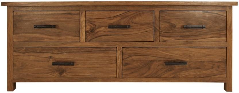 TimberTaste SLINE OPEN Solid Wood TV Entertainment Unit