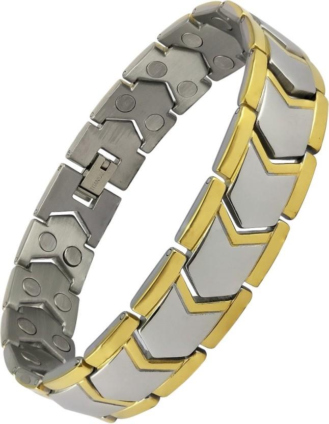 Stylepotion Stainless Steel, Resin Yellow Gold, Rhodium Tennis Bracelet